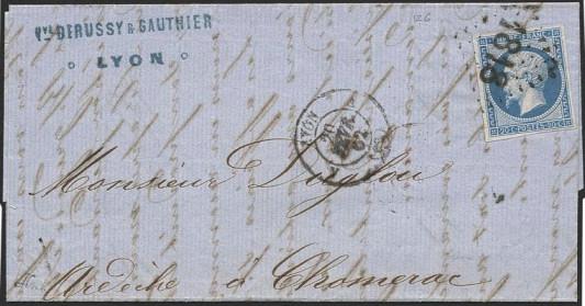 lettre de Lyon du 20 février 1862
