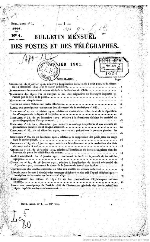Bulletin mensuel des postes et france ministere bpt6k5504300g 2