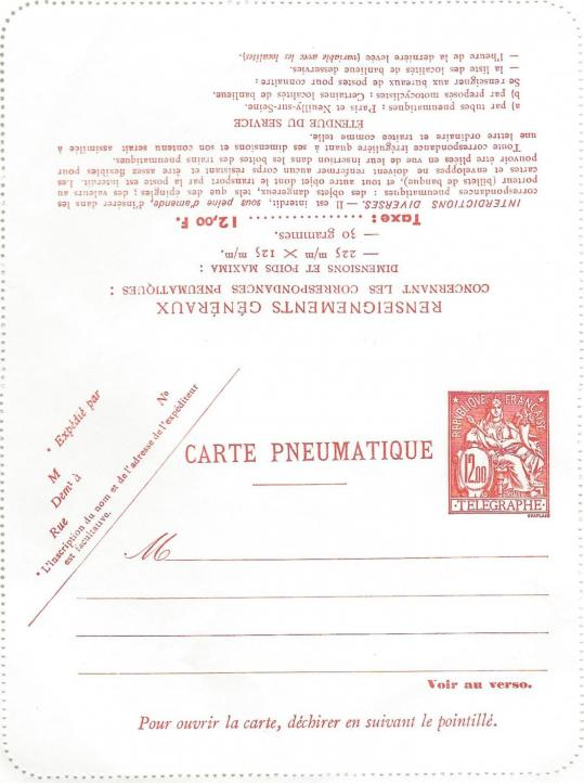 Carte pneumatique
