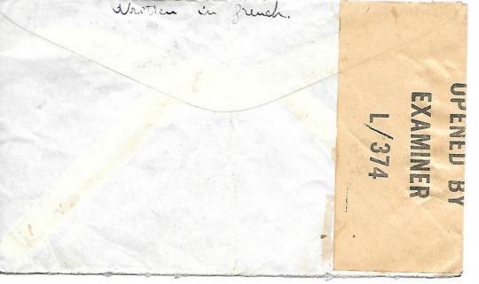 Enveloppe ceylan verso