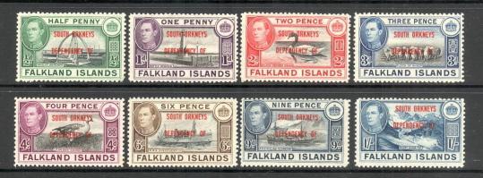 Falklands surcharges orcades