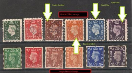 German forgeries of king georges vi postal revenue stamps mi 38