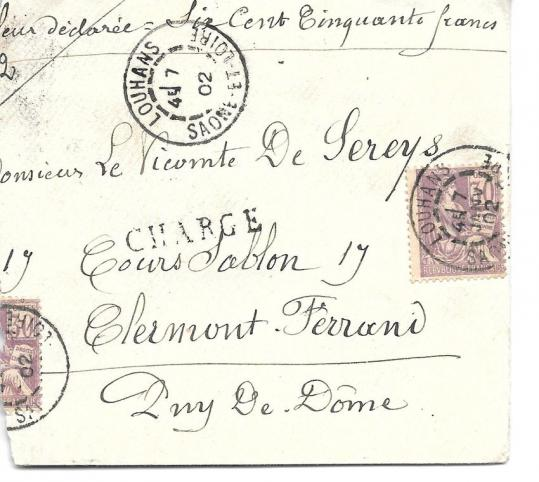 Lettre chargee