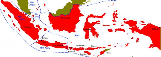 Occupation des indes neerlandaises par le japon