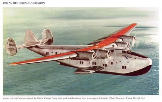 Pan am b 314 yankee clipper illustration