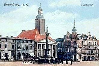 Rosenberg rathaus am marktplatz